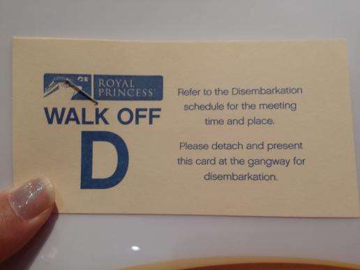 WALK OFFプログラムのチケット