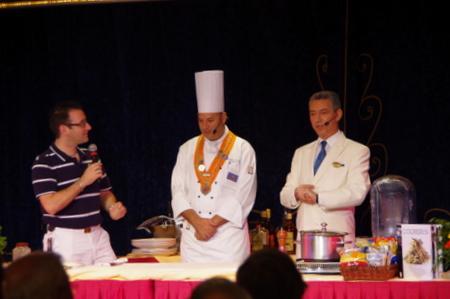 Culinary Demonstaration on オーシャンプリンセス