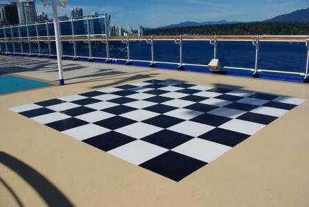 船上のチェス盤(スタープリンセス)