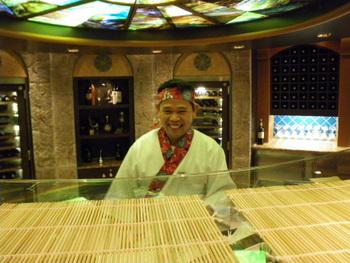 ルビープリンセスの寿司職人