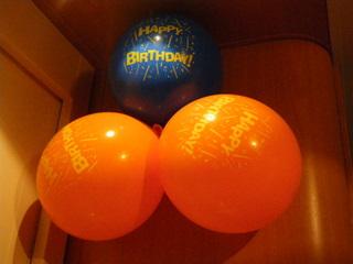 クルーズでお誕生日