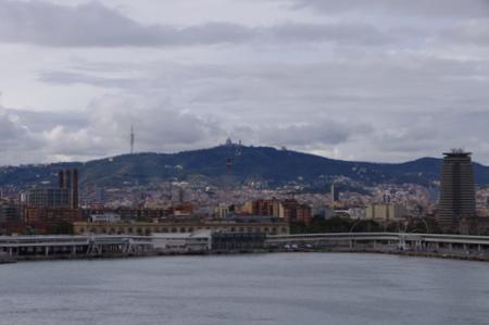 バルセロナ港からの眺め