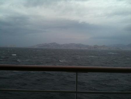 大荒れの地中海
