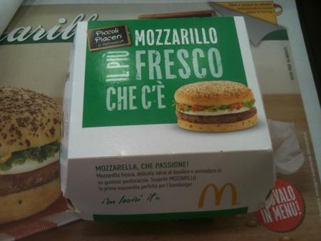 モッツァレラバーガー at イタリアのマクドナルド