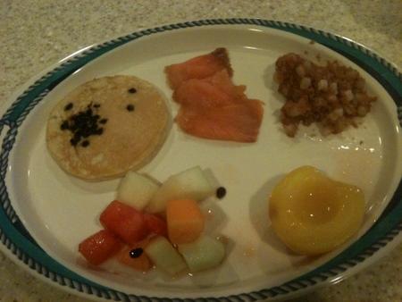 Panorama Buffetの朝食 on オーシャンプリンセス