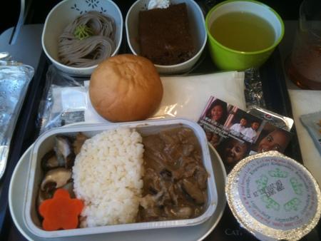 キャセイパシフィック航空 CX504便の機内食