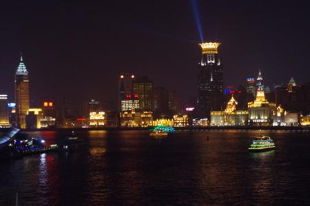 上海黄浦江の夜景