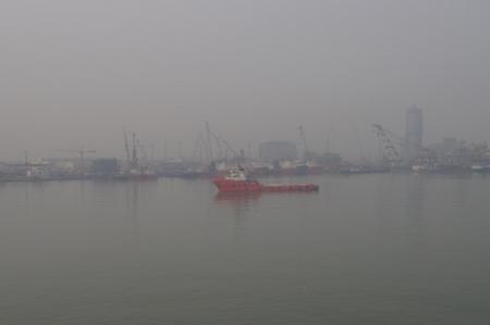 天津新港の様子