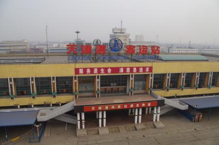 天津新港の客船ターミナル