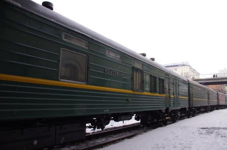 シベリア鉄道の客車 in ウラジオストク
