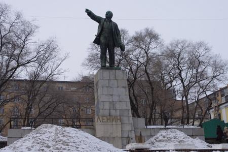 ウラジオストクのレーニン像
