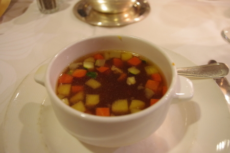 Chicken and Vegetable in Fortified Broth(鶏肉と野菜のスープ)