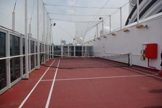 フォーレンダムのテニスコート