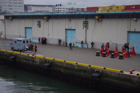 博多港での和太鼓パフォーマンス