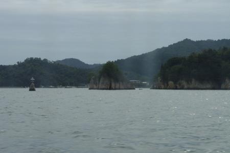 高速船から見た宮島
