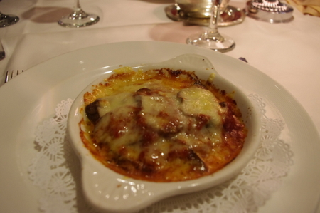 Eggplant Parmigiana with Basil-Tomato Sauce(ナスのトマトソース焼き パルミジャーノ添え)