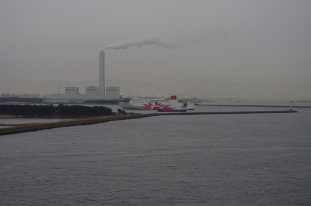大阪港の様子 from オーシャンプリンセス