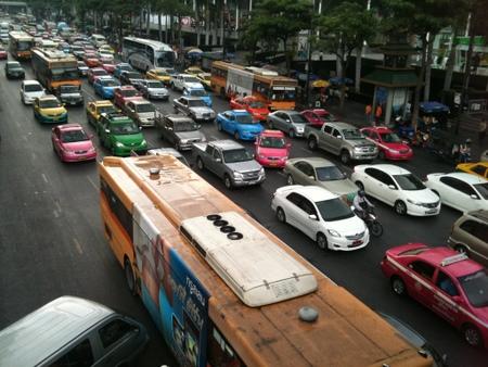 バンコク市内の大渋滞