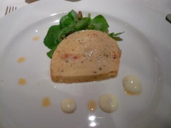 前菜:ロブスターと魚介のテリーヌ、ディルマスタード添え