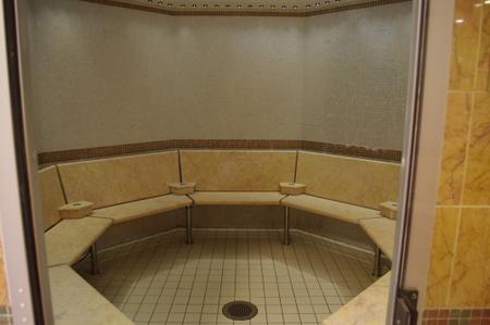 Lotus Spaの更衣室 on オーシャンプリンセス
