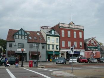 ニューポートの街並み