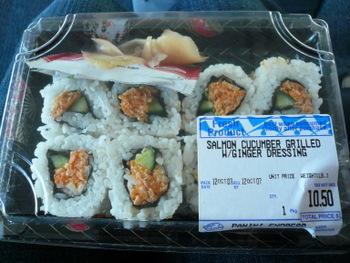 JFK国際空港で購入したお寿司