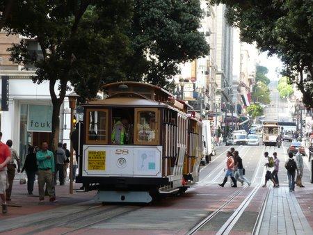 サンフランシスコ名物のケーブルカー