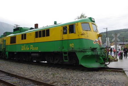 ホワイトパス鉄道のディーゼル機関車