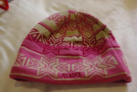 アラスカで買ったニット帽