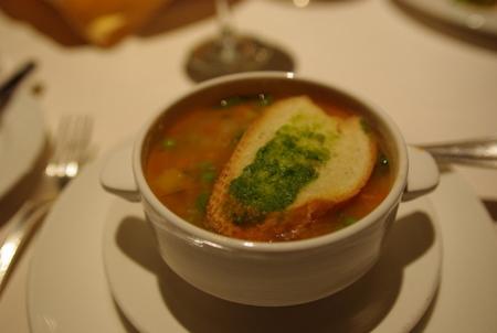 スープ:野菜のミネストローネ