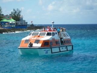 ルビープリンセスのテンダーボート
