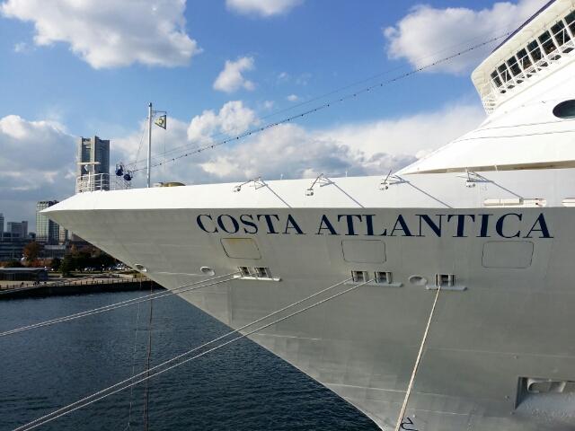 横浜寄港中のCosta Atlantica コスタアトランチカ