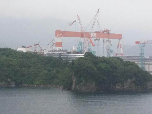 長崎で建造中のAIDA PRIMA アイーダプリマ