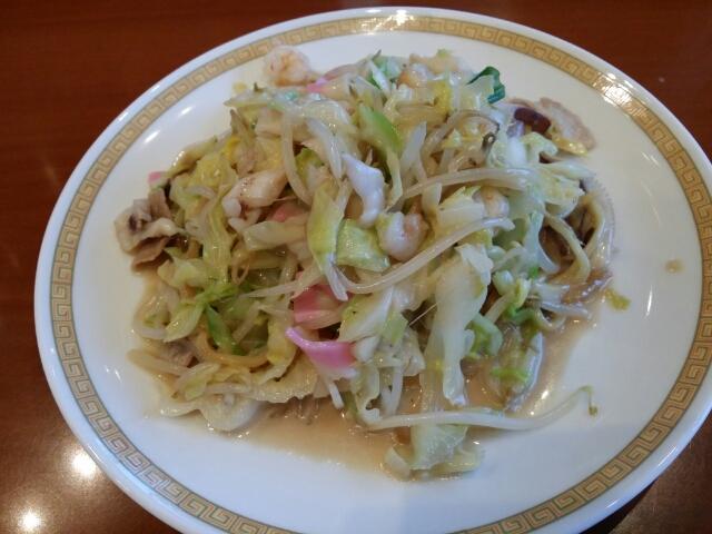 四海楼の太麺皿うどん