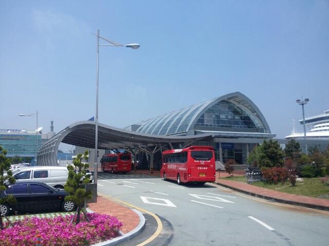釜山のクルーズターミナル