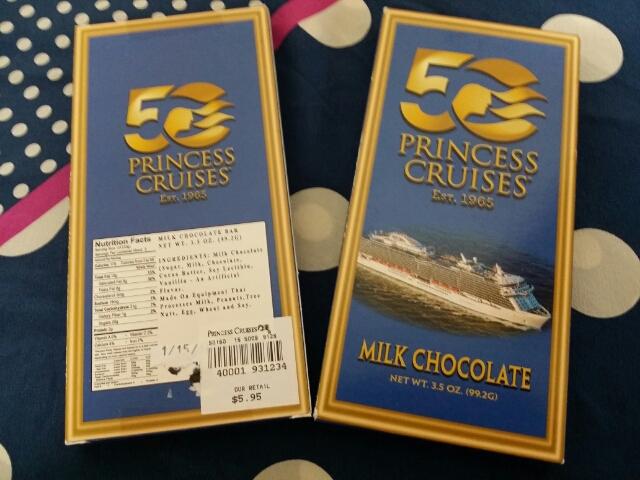 プリンセスクルーズ50周年チョコレート