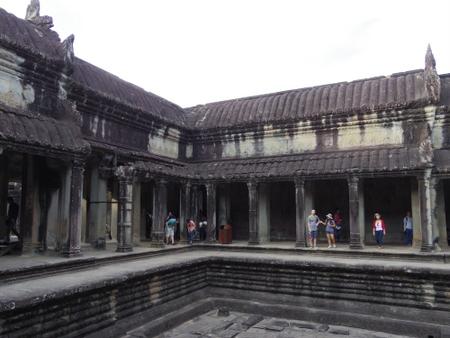 アンコール・ワットの沐浴池跡