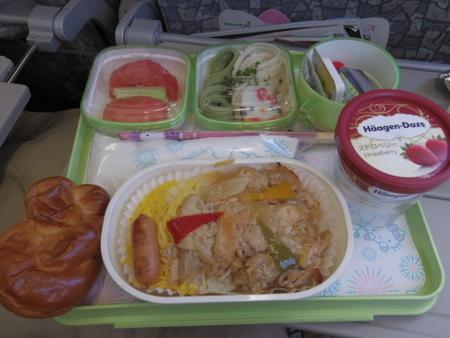 ハローキティジェット BR189便 機内食