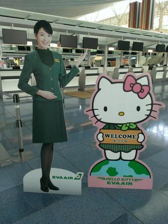 ハローキティジェット 羽田空港のチェックイン