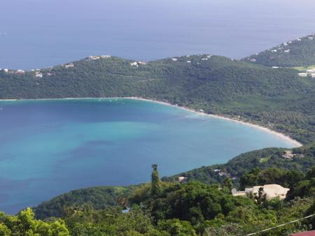 マウンテントップから見た東カリブ海