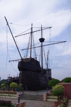 マラッカ海洋博物館の帆船