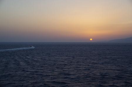 ミコノス島の日没.JPG