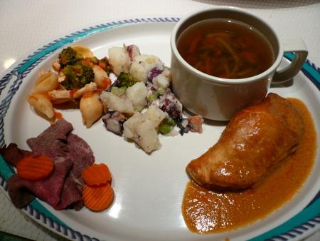 メキシカンリビエラクルーズ1日目の夜ご飯