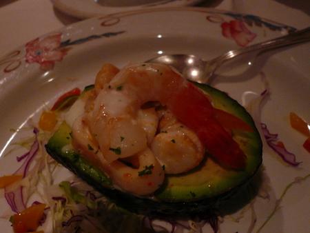 メキシカンリビエラクルーズ 7日目のディナー