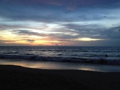 レギャンビーチの夕暮れ.JPG