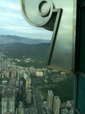 台北101 89階展望フロアからの眺め