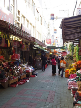 釜山の国際市場周辺