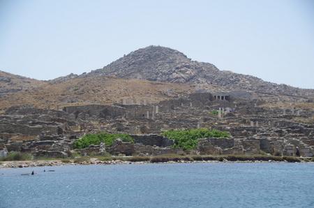 海上から見たデロス島.JPG