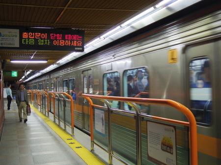 釜山地下鉄2号線のホーム