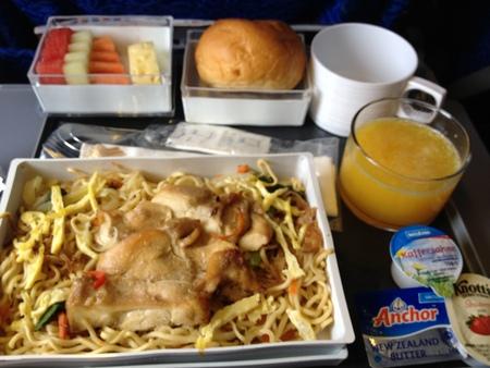 SQ941便の機内食